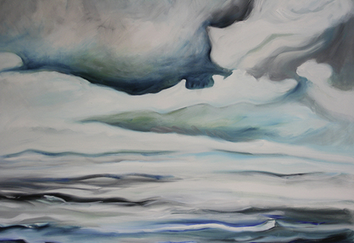waterclouds2 oil canvas 100x120 be